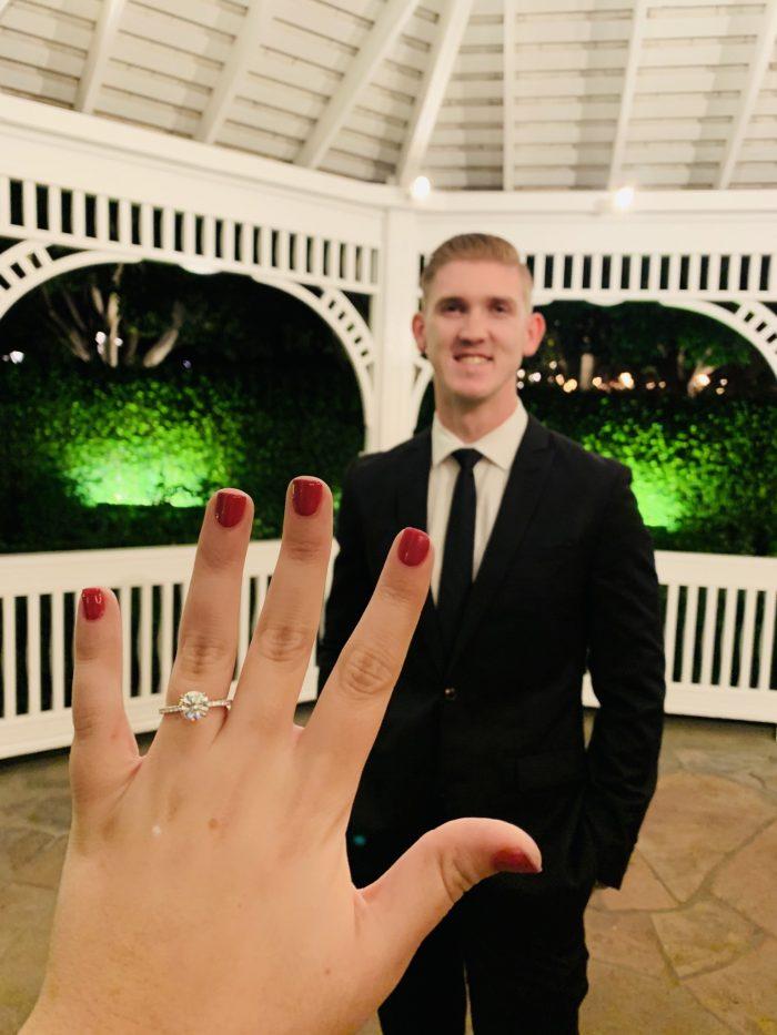Wedding Proposal Ideas in Disneyland Hotel Rose Court Garden