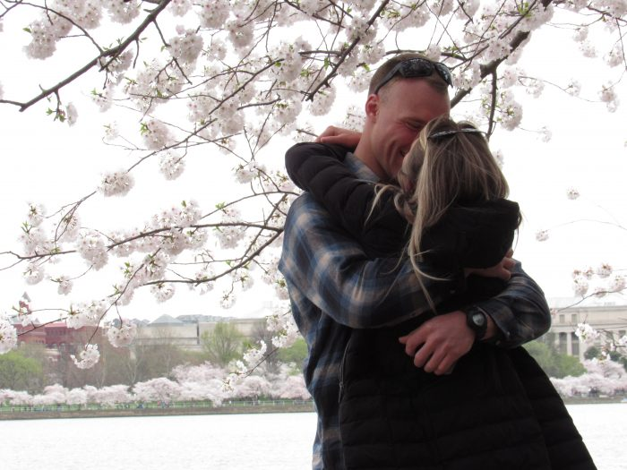 Lauryn's Proposal in DC Cherry Blossoms