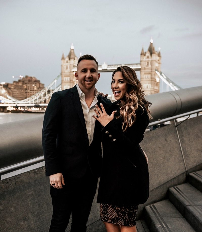 Samaly De and Patrick's Engagement in Tower Bridge in London