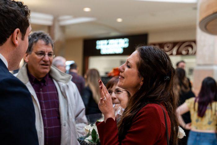 Rachel and Benjamin's Engagement in Apple Store, Denver CO