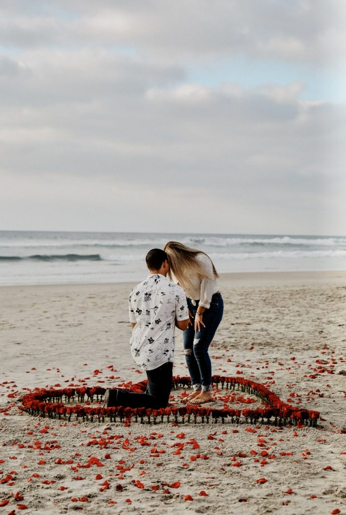Wedding Proposal Ideas in Del Mar Beach, California