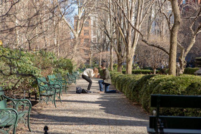 Jane's Proposal in Gramercy Park, New York