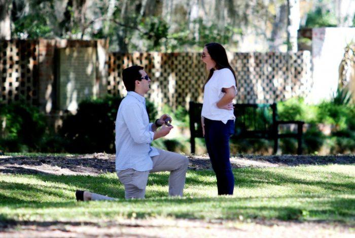 Marriage Proposal Ideas in Brookgreen Gardens