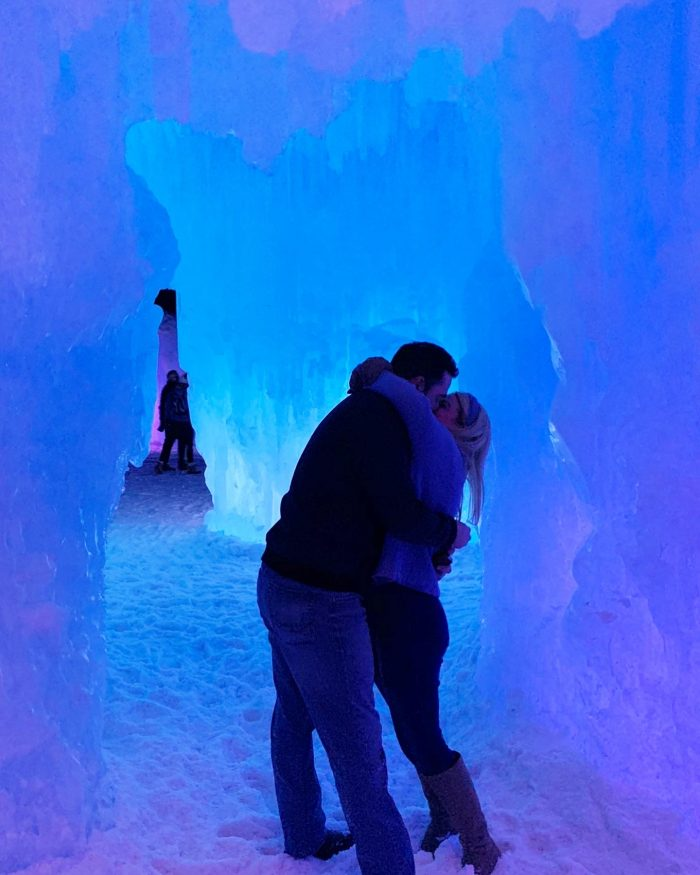 Marriage Proposal Ideas in At the Silverthorne, Colorado Ice Castle (all the Elsa vibes)