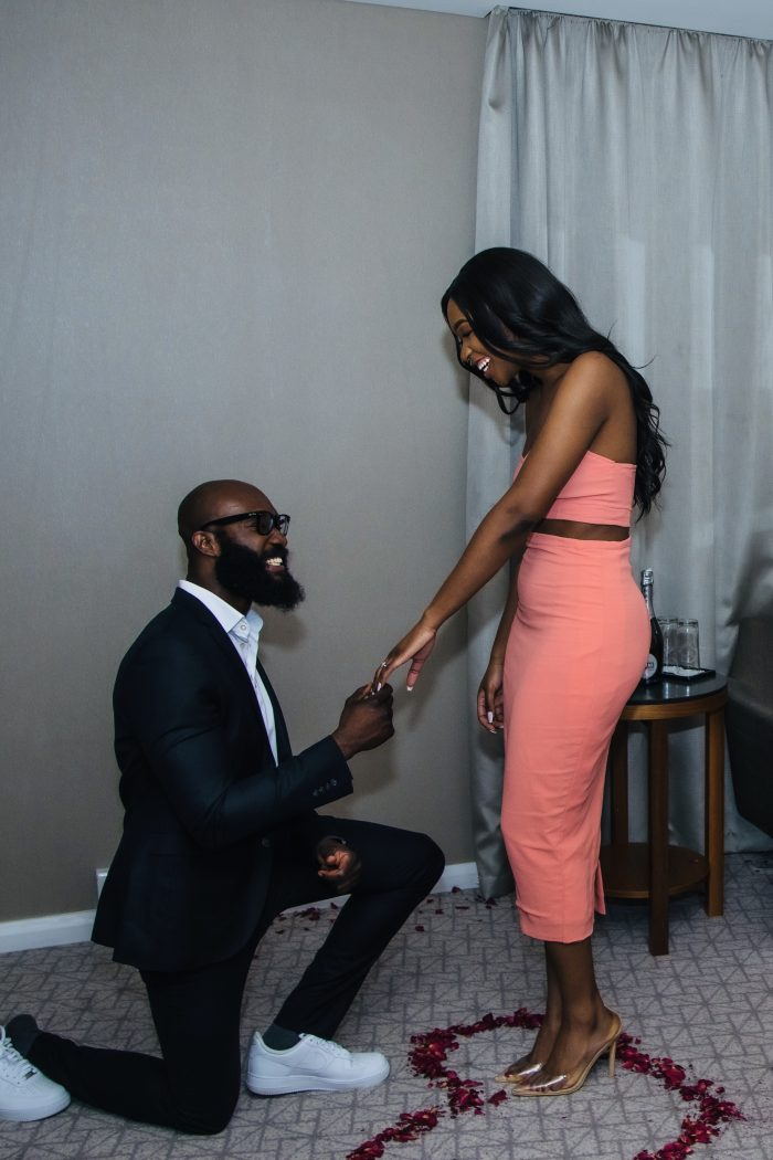 Liliane and Nonso's Engagement in Hotel in Central London
