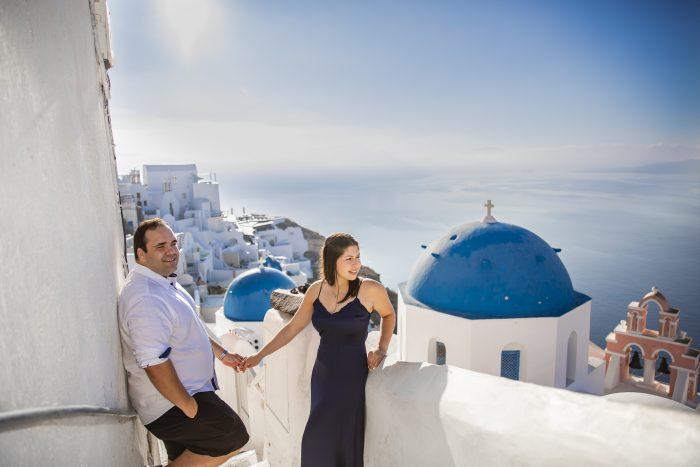 Engagement Proposal Ideas in Santorini, Greece