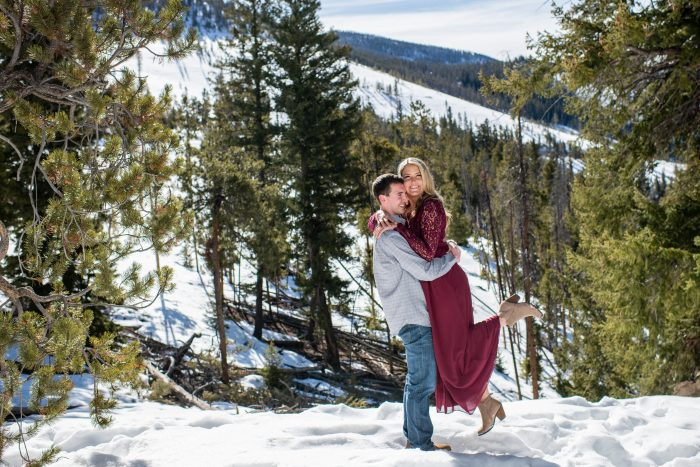 Wedding Proposal Ideas in Sapphire Point Overlook in Dillon, CO