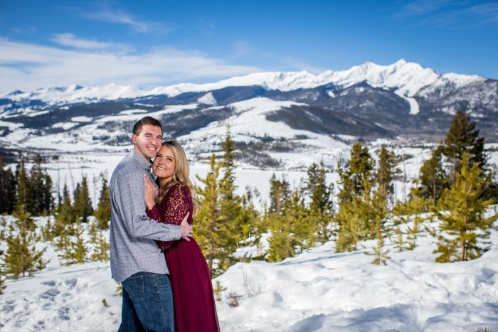 Haley and Mitch's Engagement in Sapphire Point Overlook in Dillon, CO