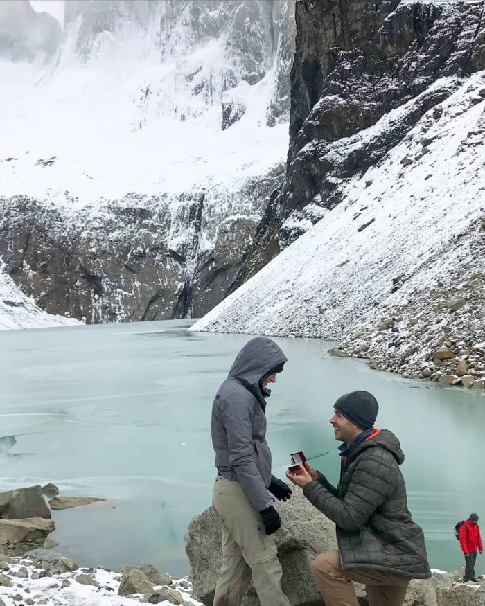 Shannon's Proposal in Torres del Paine National Park, Chile