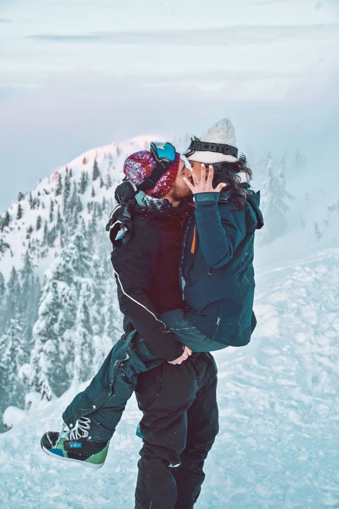 Marriage Proposal Ideas in On top of a ski slope in Vancouver