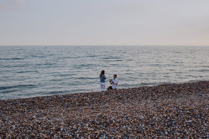 Engagement Proposal Ideas in Hove Beach front