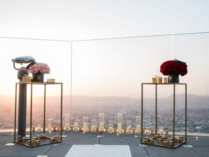 Vanessa and Anthony's Engagement in OUE Skyspace LA