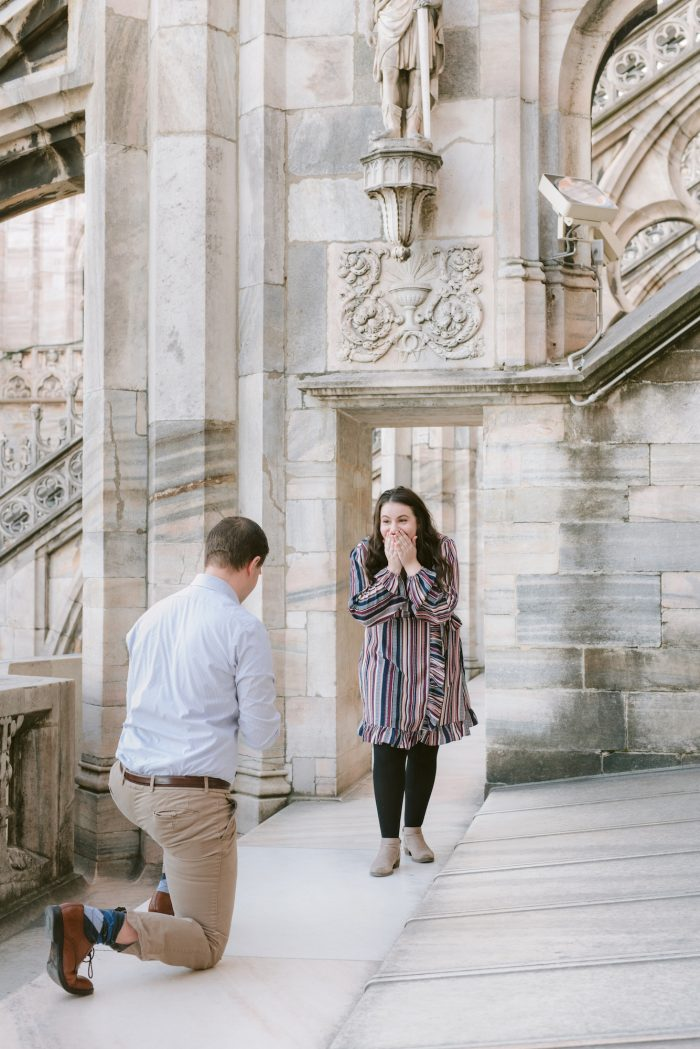 Marriage Proposal Ideas in Duomo di Milano