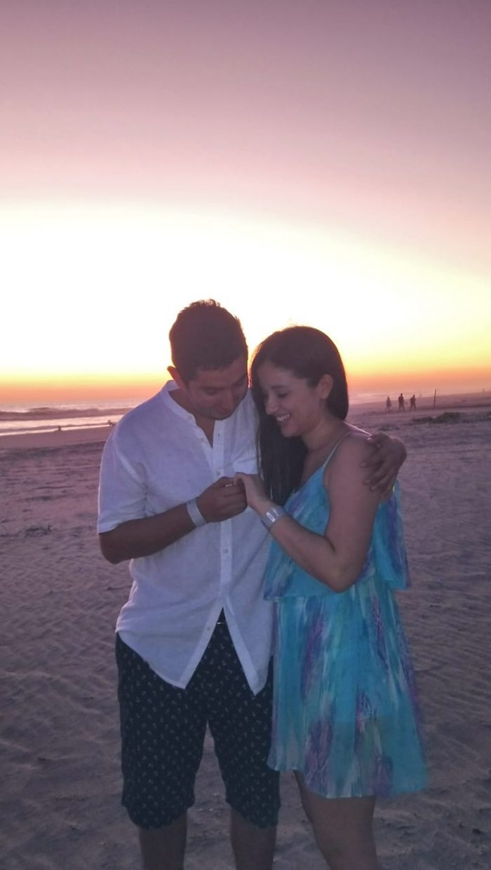 Ariane and Rafael's Engagement in At the beach