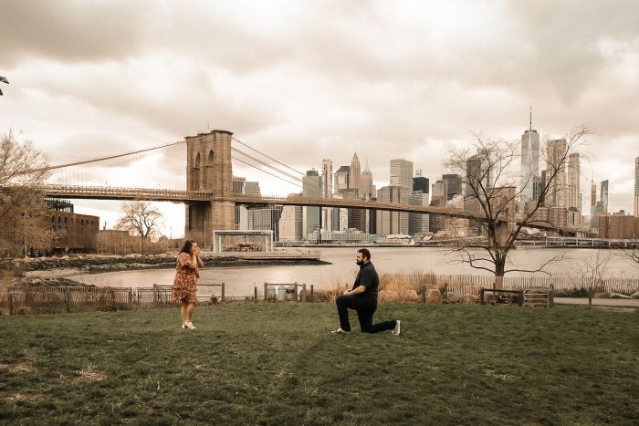 Grace and Matt's Engagement in Brooklyn Bridge Park