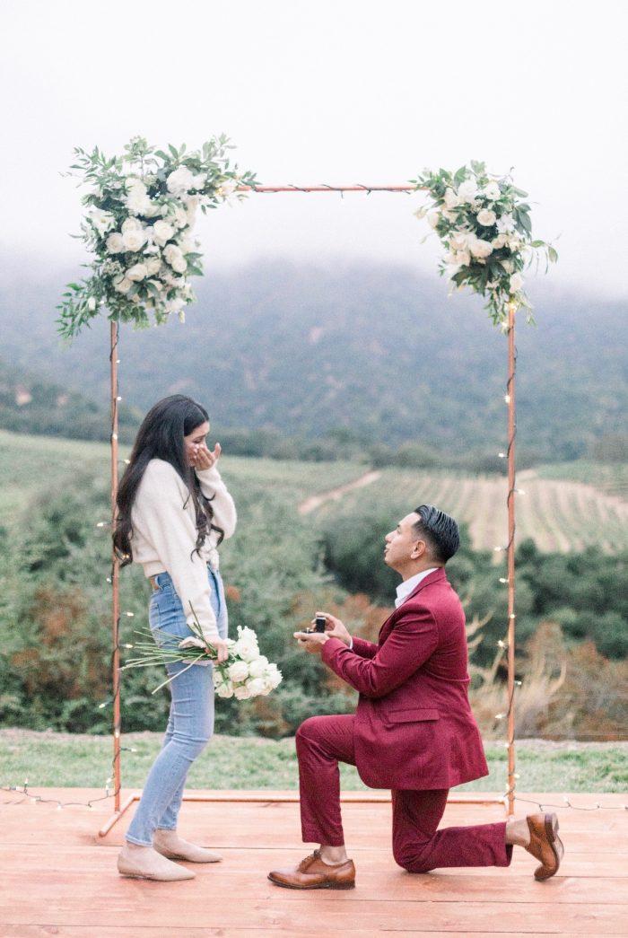 Wedding Proposal Ideas in Joullian Vineyards - Carmel Valley, CA 93924