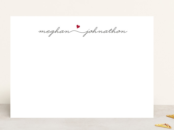 Minted personalized stationery engagement gift from mom