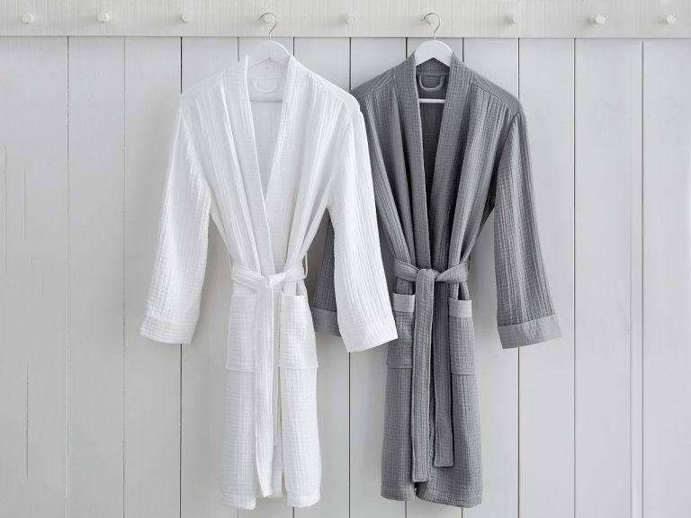 Monogrammed bathrobes engagement gift from mom