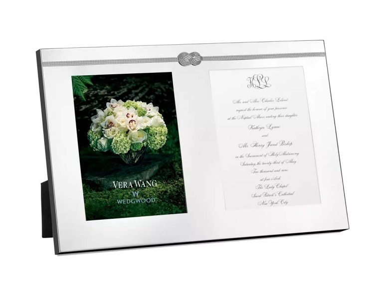Vera Wang Wedgwood Infinity Double Invitation Frame engagement gift from mom