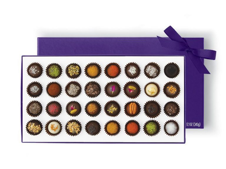 Vosges Exotic Truffle Collection engagement gift from mom